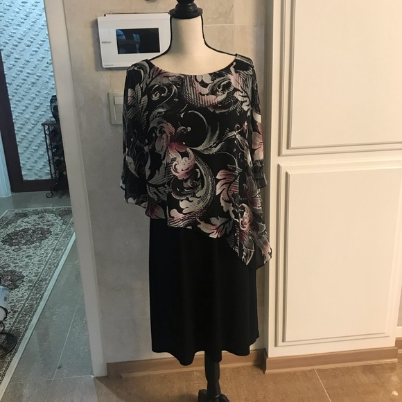 connected apparel Dresses & Skirts - Connected Apparel Black Print Dress